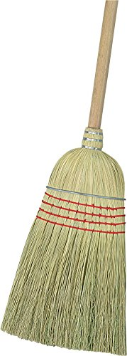 Carlisle 3685500 Flo-Pac Wood Handle Warehouse Broom, Corn Blend Bristle, #34 and 56'' Length (Pack of 12) by Carlisle