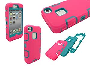 Nue Design Cases TM Robot Series 3-Piece Hybrid Armored silicone Case cover For iPhone 4/4s