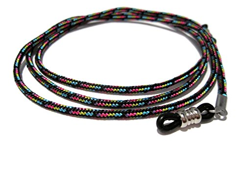 ATLanyards Colorful Paracord Eyeglass Chain, Eyeglass Holder with Black Pieces ()