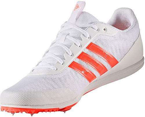 Adidas, Distancestar,Zapatillas de correr, Blanco Solar Rojo 45 1 ...
