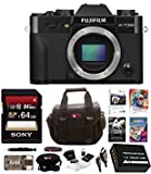 Fujifilm X-T20 Mirrorless Camera Body 64GB Body Bundle (Black)