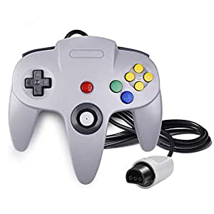 QUMOX Game Controller Joystick for Nintendo 64 N64 System GamePad Grey