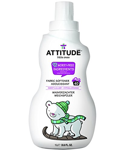 ATTITUDE Little Ones, Hypoallergenic Fabric Softener, Sweet Lullaby, 33.8 Fluid Ounce, 40 Loads