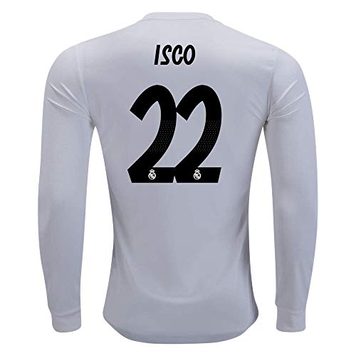 - LS ISCO 22 Real Madrid Home 18/19 Jersey Color White Long Sleeves Size L