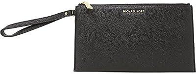 Michael Kors Women's Large Mercer Zip Clutch Leather Wristlet