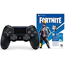 Controle Dualshock 4 Jet + Voucher Fortnite - PlayStation 4 - Preto