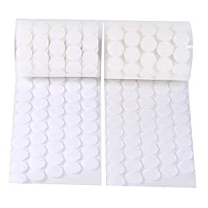 "Vkey 500pcs (250 Pair Sets) 3/4"" Diameter Sticky Back Coins Hook & Loop Self Adhesive Dots Tapes White-Delivery By FBA"