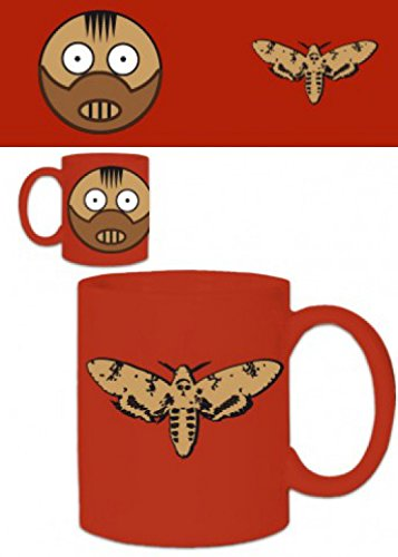 1art1 Set: Halloween, Hannibal Lecter Photo Coffee Mug (4x3 inches) and 1x Surprise Sticker