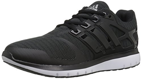 adidas Women's Energy Cloud V Running Shoe, Black/Black/Dark Grey Heather, 9 M US