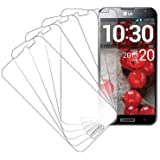 LG Optimus G Pro Screen Protector Cover, MPERO Collection 5 Pack of Clear Screen Protectors for LG Optimus G Pro E980