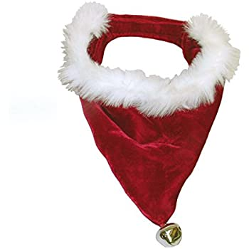 Amazon.com : Velvet Christmas Dog Bandana Small : Pet Bandanas ...