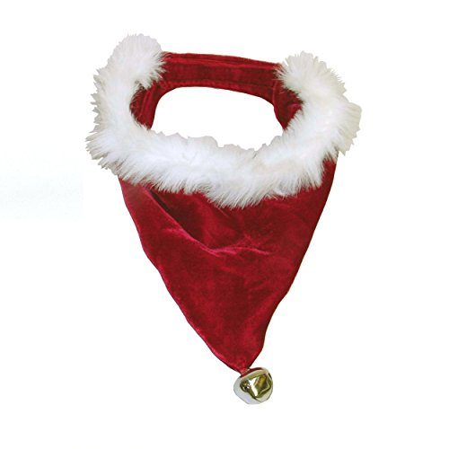 Outward Hound Kyjen  30044 Santa Dog Bandana Holiday and Christmas Accessories for Dogs, Small, - Dog Bandana Christmas