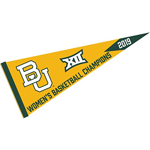 (College Flags and Banners Co. Baylor Bears Womens 2019 Big 12 XII Basketball Champions Pennant)