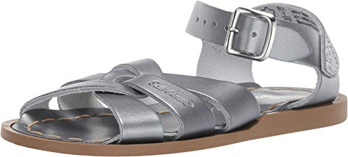 Salt Water Sandals by Hoy Shoes Baby Girl's The Original Sandal (Toddler/Little Kid) Pewter 1 M US Little Kid ()