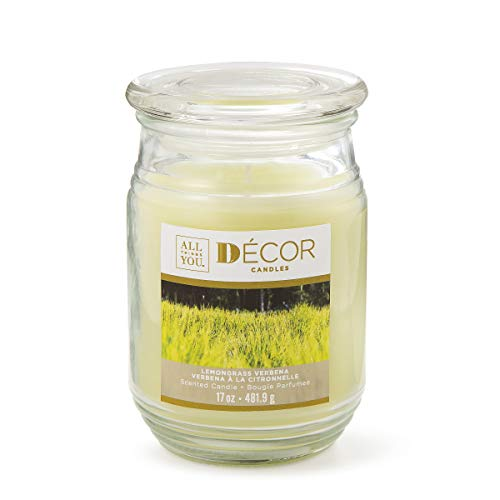 Darice All Things You Scented Candle: Lemongrass Verbena, 17 Ounces Yellow