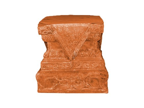 Amedeo Design ResinStone 2000-36T Foo Dog Base, 31 by 31 by 25-Inch, Terra Cotta (Patio Fiberglass Furniture Vintage)