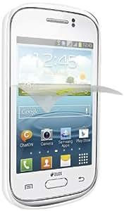 SBS TEAEROGYOUNW - Funda TPU para Samsung Galaxy Young (con protector de pantalla) blanco