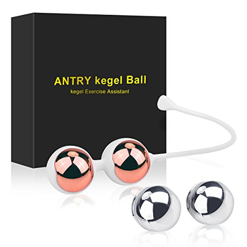 Kegel Exercise Weights - Lilizhou Ben Wa Kegel Balls Weighted Exercise Kit for Beginners or Advanced, Doctor Recommended for Women & Girls Bladder Control and Pelvic Floor Muscle - Balls Metal Duotone