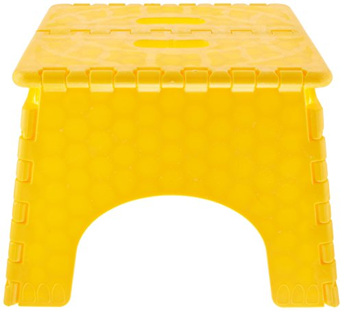 B & R Plastics 1016Y E-Z Foldz Yellow Step Stool
