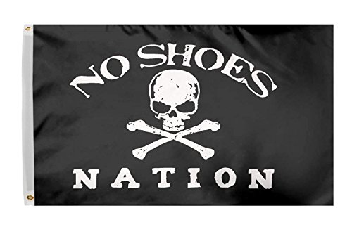 Time Roaming 3x5 Ft No Shoes Nation Flag Pirate Skull Without Cowboy Hat Fan Club Polyester Flag with Brass Grommets