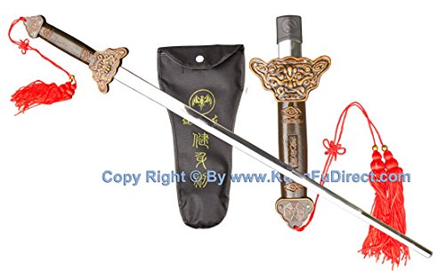 Extendable Kung Fu Sword Bronze Alloy Collapsible Sword - for Wushu, Tai Chi, Shaolin, Martial Arts Weapon. Tds203