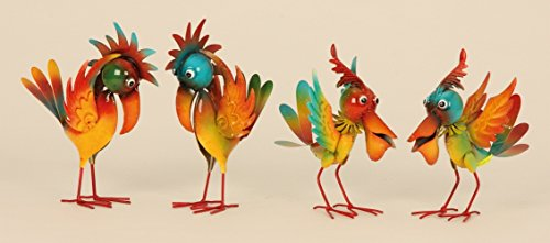 Deko Vogel Set (MV9) Garten Gartenfigur-verschiedene Modelle in meinem Shop- Wetterfest Gartenzwerg Figuren Erdmännchen Metallvogel bunt Deko