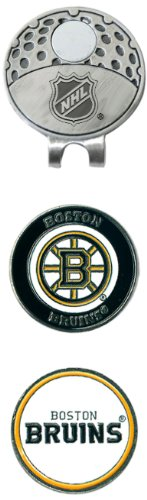 Team Golf NHL Boston Bruins Golf Cap Clip with 2 Removable Double-Sided Enamel Magnetic Ball Markers, Attaches Easily to Hats
