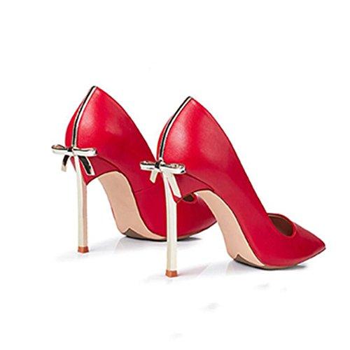 Mode Frauen Spitze YIXINY Cm größe High 10 Pumps Rot Party Datierung Flacher UK4 EU36 CN36 Heels Mund W1SS5xqn