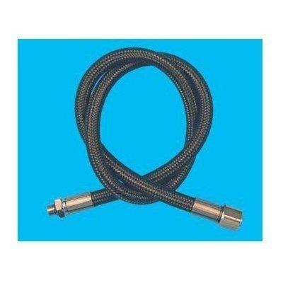 New 30 Inch Low Pressure Braided Scuba Regulator Hose (Black-MaxFlex)