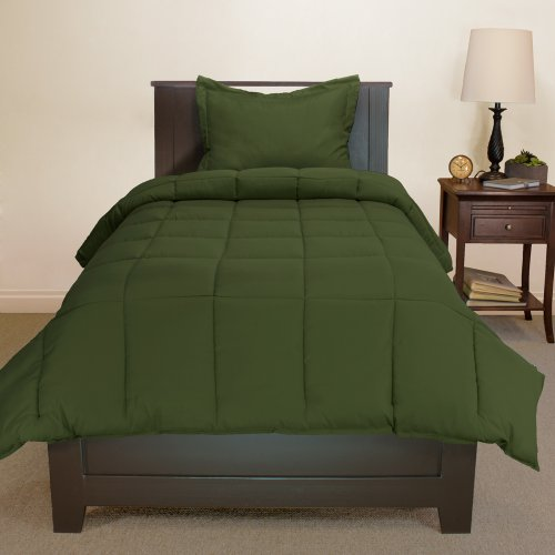 Twin Solid Comforter & Sham Set - Cypress Green
