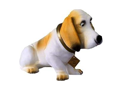 Motivo cabeza Mum 30 cm perro basset Enano de jardín Motivo Animales de PVC Decoración grs