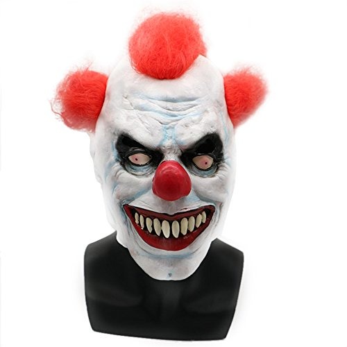 Demon Scary Costume Evil Clown Mask for Adults