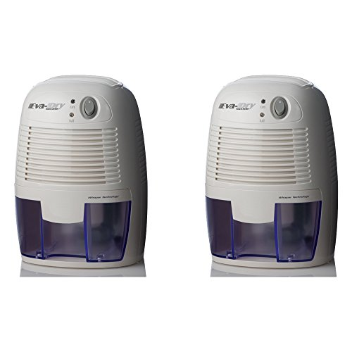 Eva-dry Edv-1100 Electric Petite Dehumidifier, White (Set of 2)