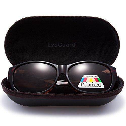 8c18dea851e3 EYEGUARD Lady Fashion Fit Over Sunglasses Oval Rectangular Polarized  Glasses Women good
