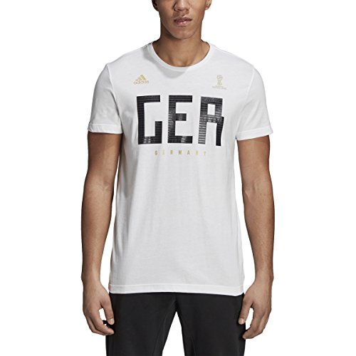 adidas World Cup Soccer Germany Men's Short Sleeve Tee, Medium, - Mens Cup Adidas World