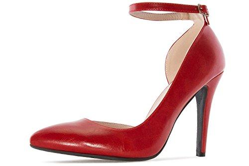 Andres Machado - Zapatos de vestir para mujer rojo rojo
