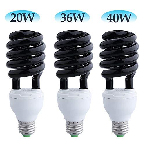 FidgetKute LED E27 220V UV Lamp Black Light Bulbs Insect Lamp Bulbs 15W - 40W Home Insect 26W One Size from FidgetKute