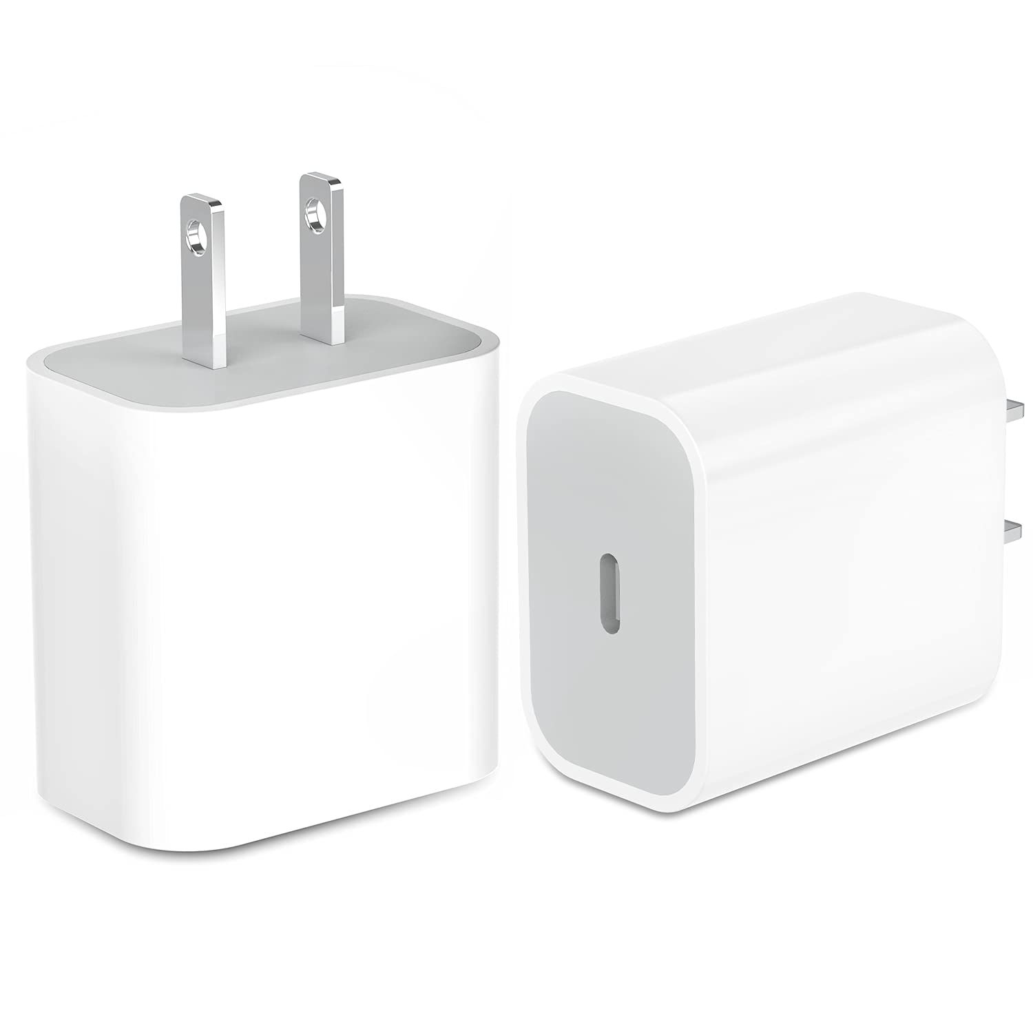 USB C Charger,20W iPhone 12 Fast Charger Block USB Type C Wall Charger with PD 3.0, Durable Compact USB-C Power Delivery Adapter Compatible with iPhone 12/12 Pro Max 12 Mini,MagSafe,11 Pro Max(2 Pack)