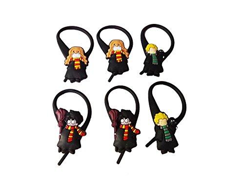 Easy Snape Costume (AVIRGO 6 pcs Soft Zipper Pull Charms for Jacket Backpack Bag Pendant Set # 254 - 3)