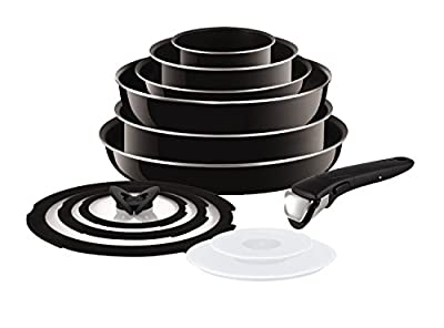Tefal (T-Fal) Ingenio (Non Induction) 13 Piece Enamel Pan Set with Detachable Handles