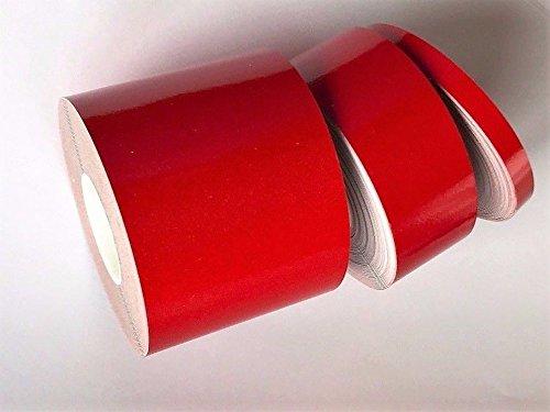 Paper Street Plastics Reflective Tape (Red, 6 inch x 25 ft)