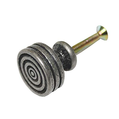 25 pcs Antique Pewter 21mm Knobs Mini Box Dresser Cabinet Drawer Pulls SDKU_0605 by JC Handle (Image #5)