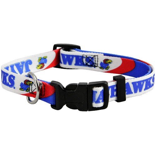 NCAA Kansas Jayhawks Royal Blue Pet Collar (Small)