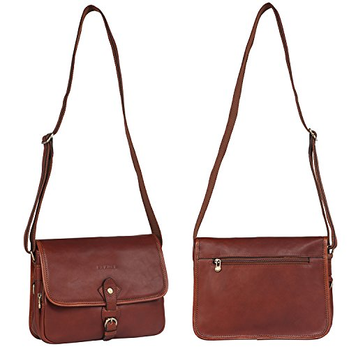 Leather for Satchel Bag Crossbody Vintage Shoulder Banuce Small Women Purse BAS57xqHn