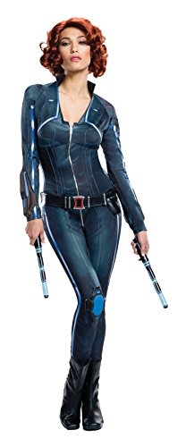 [Avengers 2 Age of Ultron Black Widow Costume, Black, Small] (Ultron Halloween Costumes)