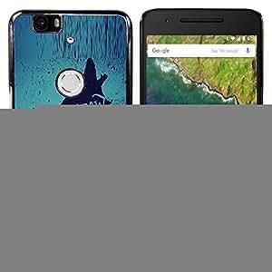 """For Huawei Google Nexus 6P Case , Lobo Plomo El texto Paquete Brave Heroico"""" - Diseño Patrón Teléfono Caso Cubierta Case Bumper Duro Protección Case Cover Funda"""
