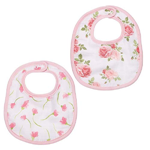 Mud Pie Muslin Bella Baby Bibs Set ()