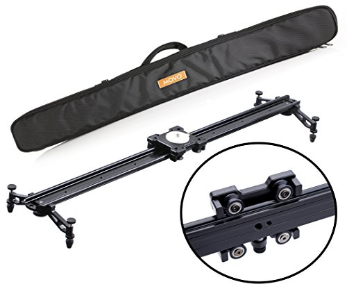 Movo MV-S85 33'' Camera Slider Track Glider System with Roller Bearing Platform, Adjustable Legs, Tension Control and More by Movo