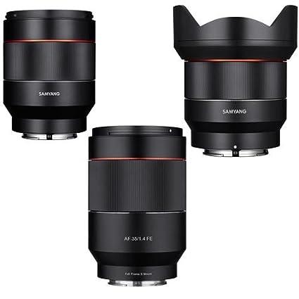 Sony E Mount Full Frame Lenses >> Amazon Com Samyang Sony E Mount Full Frame Auto Focus Lens Bundle