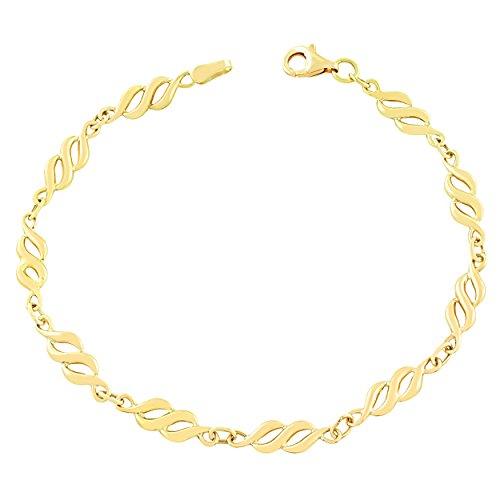 10k Yellow Gold 4.8mm Infintiy Bracelet (7.5 inch)
